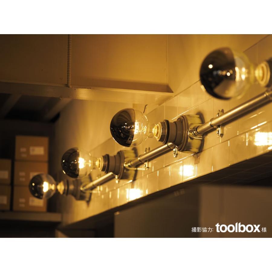 【フィラメントLED電球「Siphon」ボール95 LDF34】E26 Silver mirror 暖系電球色 Tミラー レトロ アンティーク インダストリアル ブルックリン  間接照明 ランプ only1-led 06