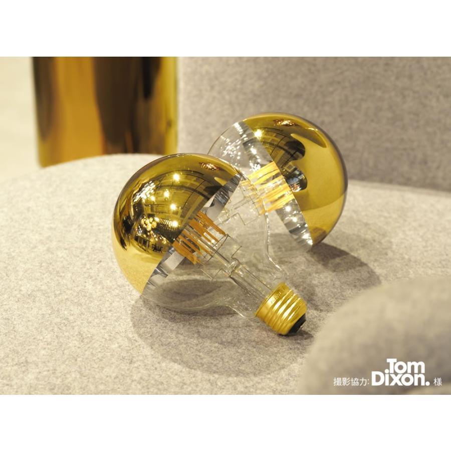 【フィラメントLED電球「Siphon」ボール95 LDF35】E26 Gold mirror 暖系電球色 Tミラー レトロ アンティーク インダストリアル ブルックリン  間接照明 ランプ|only1-led|03
