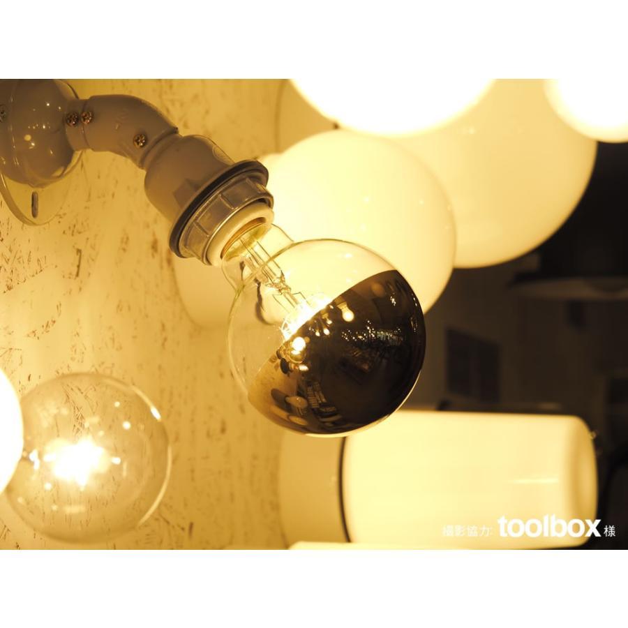 【フィラメントLED電球「Siphon」ボール95 LDF37】E26 Gold mirror 電球色 Tミラー レトロ アンティーク インダストリアル ブルックリン  間接照明 ランプ|only1-led|05