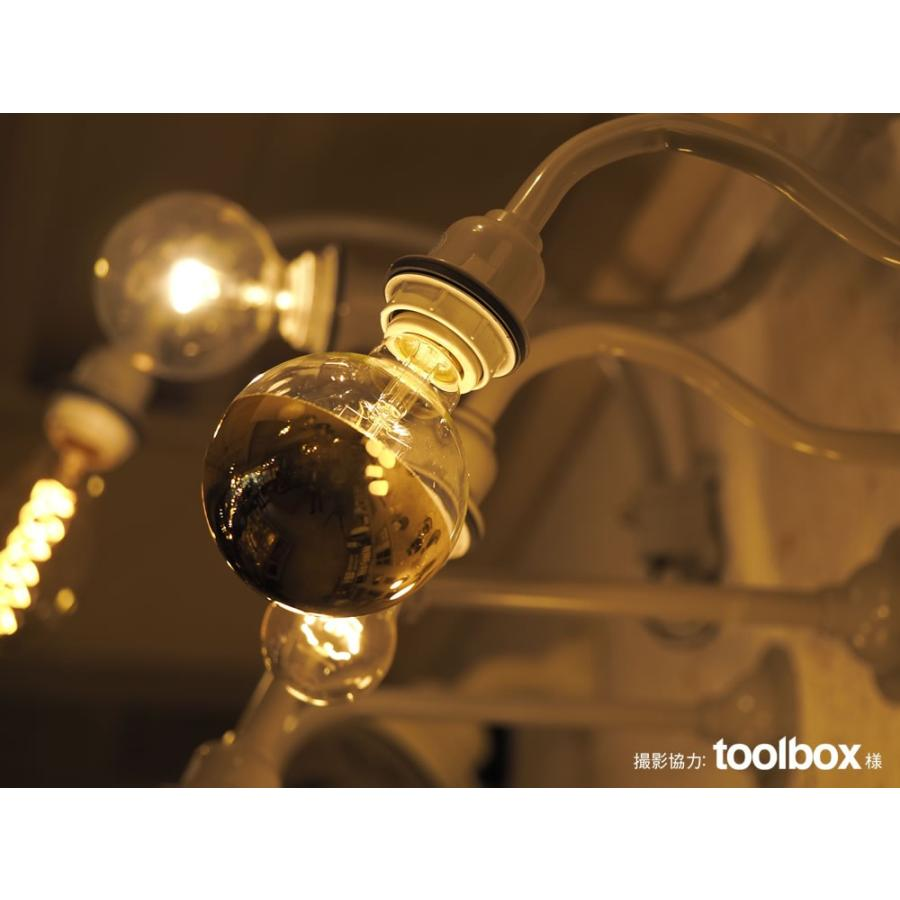 【フィラメントLED電球「Siphon」ボール95 LDF37】E26 Gold mirror 電球色 Tミラー レトロ アンティーク インダストリアル ブルックリン  間接照明 ランプ|only1-led|06