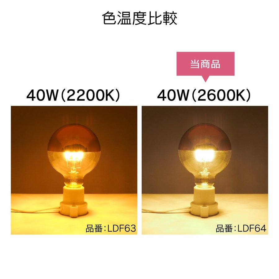 【3年保証 フィラメントLED電球「Siphon」ボール95 LDF64】E26 Copper mirror Tミラー レトロ アンティーク インダストリアル ブルックリン  間接照明 ランプ|only1-led|03
