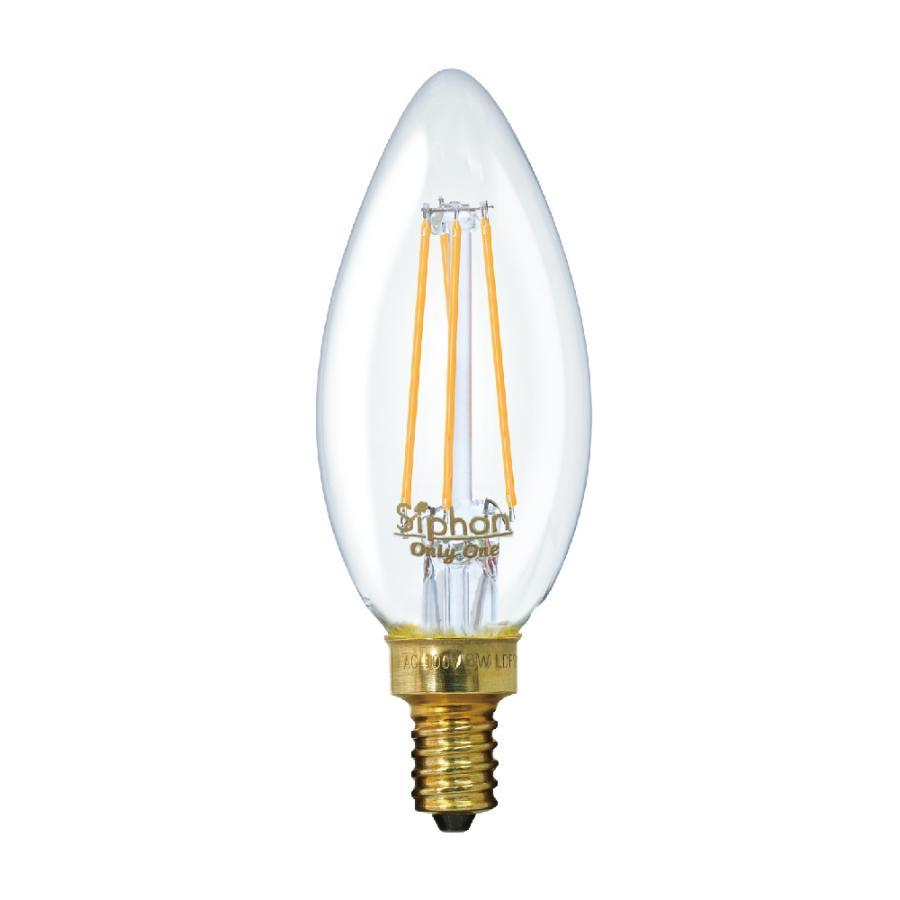 【3年保証 フィラメントLED電球「Siphon」シャンデリア LDF93】E12 25W相当 クリア レトロ アンティーク インダストリアル ブルックリン 間接照明 ランプ|only1-led|02