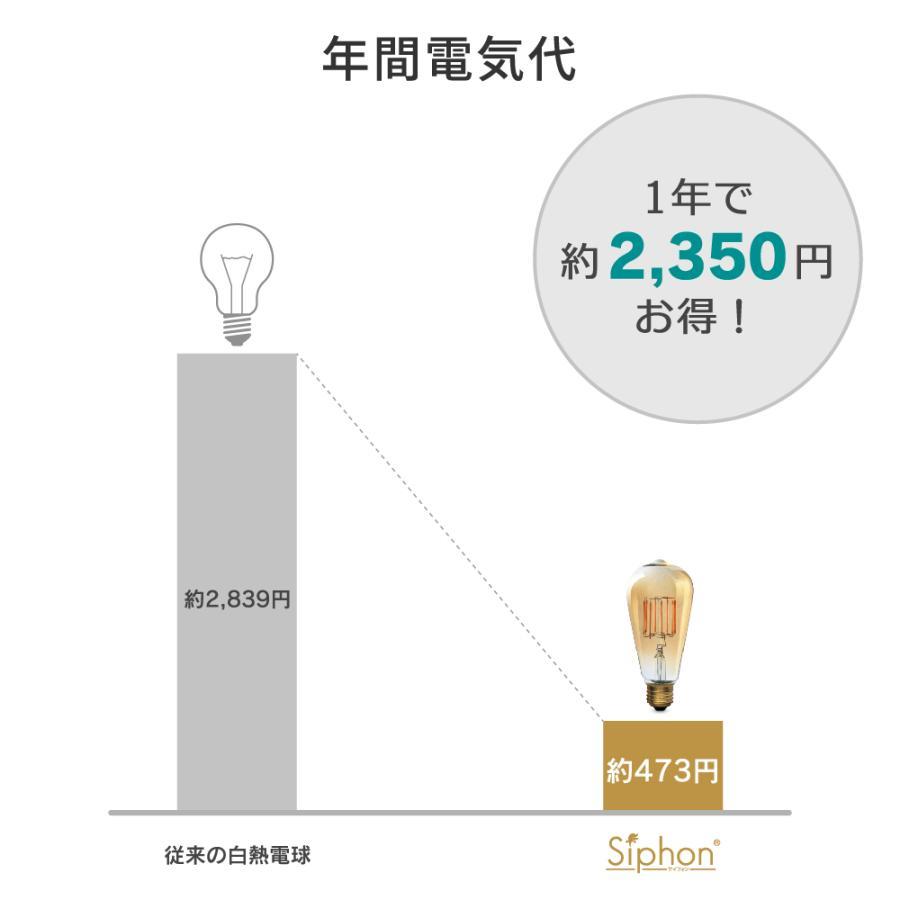 【3年保証 フィラメントLED電球「Siphon」シャンデリア LDF93】E12 25W相当 クリア レトロ アンティーク インダストリアル ブルックリン 間接照明 ランプ|only1-led|06