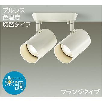 LEDスポットライト フランジタイプ 調光可能 色温度切替タイプ 電球色 昼白色 天井付 天井付 壁付兼用 LED内蔵 LED交換不可 DSL-4721 FW (DSL4721FW) 大光