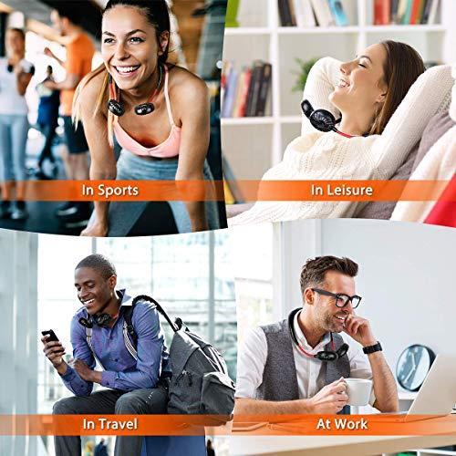 ポータブルハンズフリーファン USB充電式 2000mAh バッテリー スポーツネックファン ネックバンド 360度調節可能 ネックレス パーソナルミ|oo-pp-ss|04