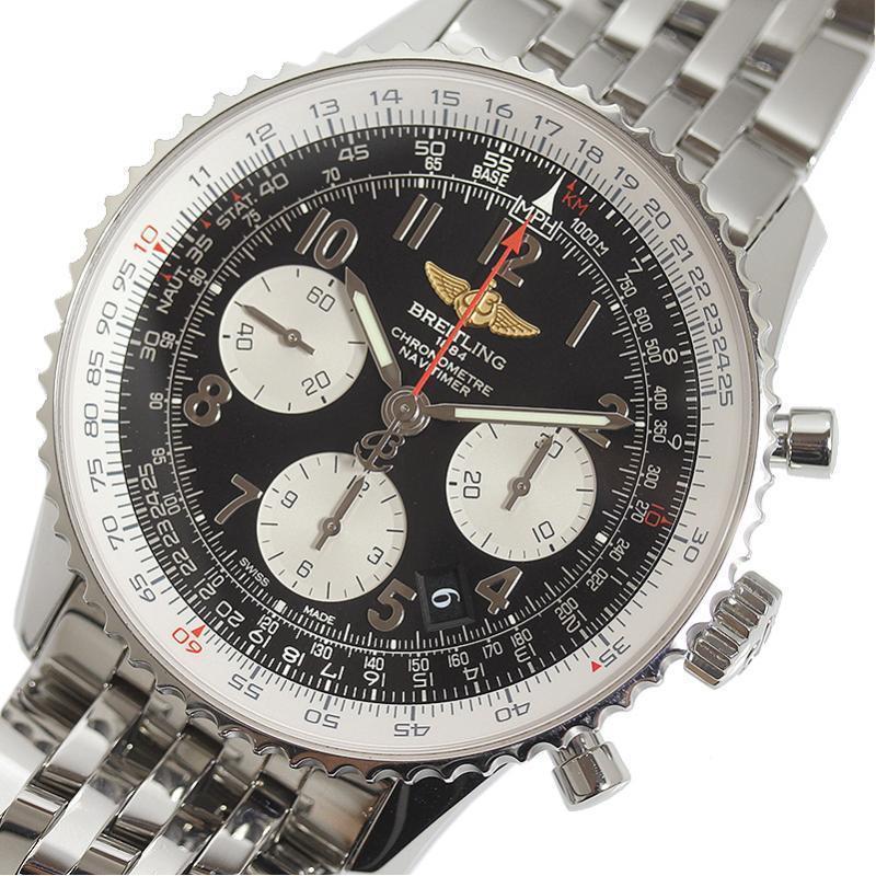 【メール便不可】 ブライトリング BREITLING 腕時計 メンズ ナビタイマー01 A022B02NP ナビタイマー01 AB0120 自動巻き ブラック メンズ 腕時計, 半田町:1d8c25a1 --- airmodconsu.dominiotemporario.com