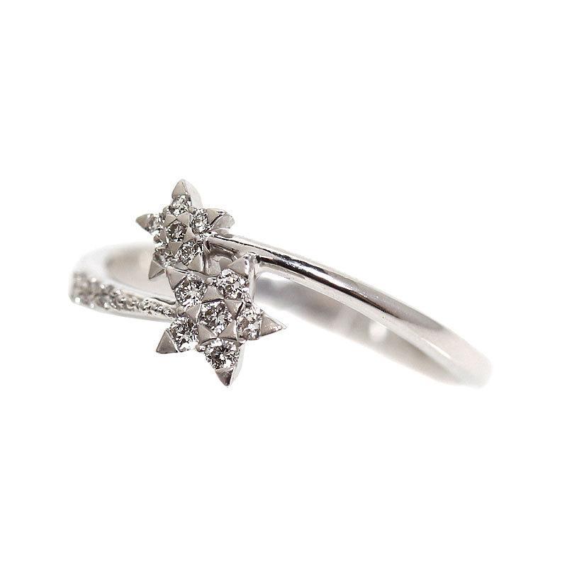 超大特価 スタージュエリー STAR JEWELRY スター ダイヤモンド リング K18WG レディース 約11号 指輪 アクセサリー, 白浜町 acdece84