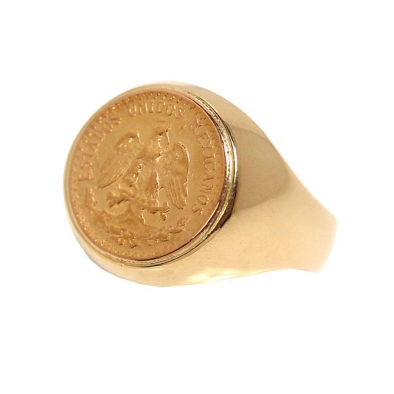 高品質の激安 コインリング K18YG コインリング メンズ アクセサリー 約16号 硬貨 硬貨 指輪 ジュエリー アクセサリー, 衝撃特価:ee4fd6a2 --- bit4mation.de