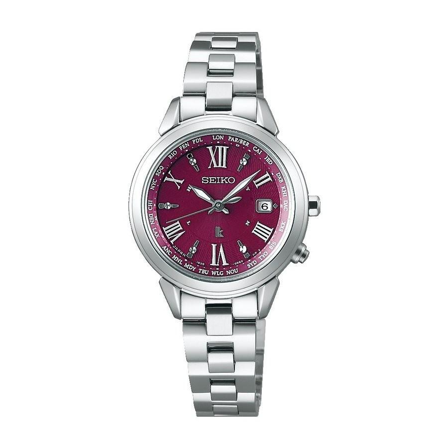 セイコー ルキア SSQV019 レディース 腕時計 ボルドー カラー ラッキー パスポート コンフォテックス チタン SEIKO ソーラー電波時計 新品