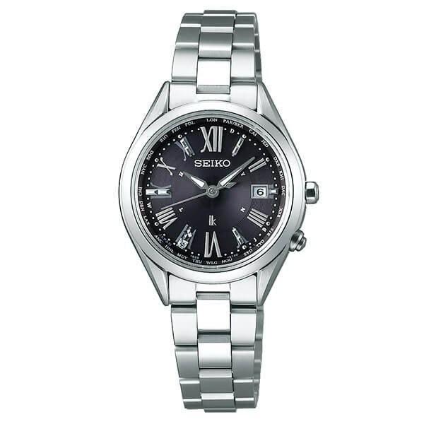 セイコー ルキア SSQV055 レディース 腕時計 レディダイヤ コンフォテックス チタン プラチナ ダイヤシールド SEIKO ソーラー電波時計 新品