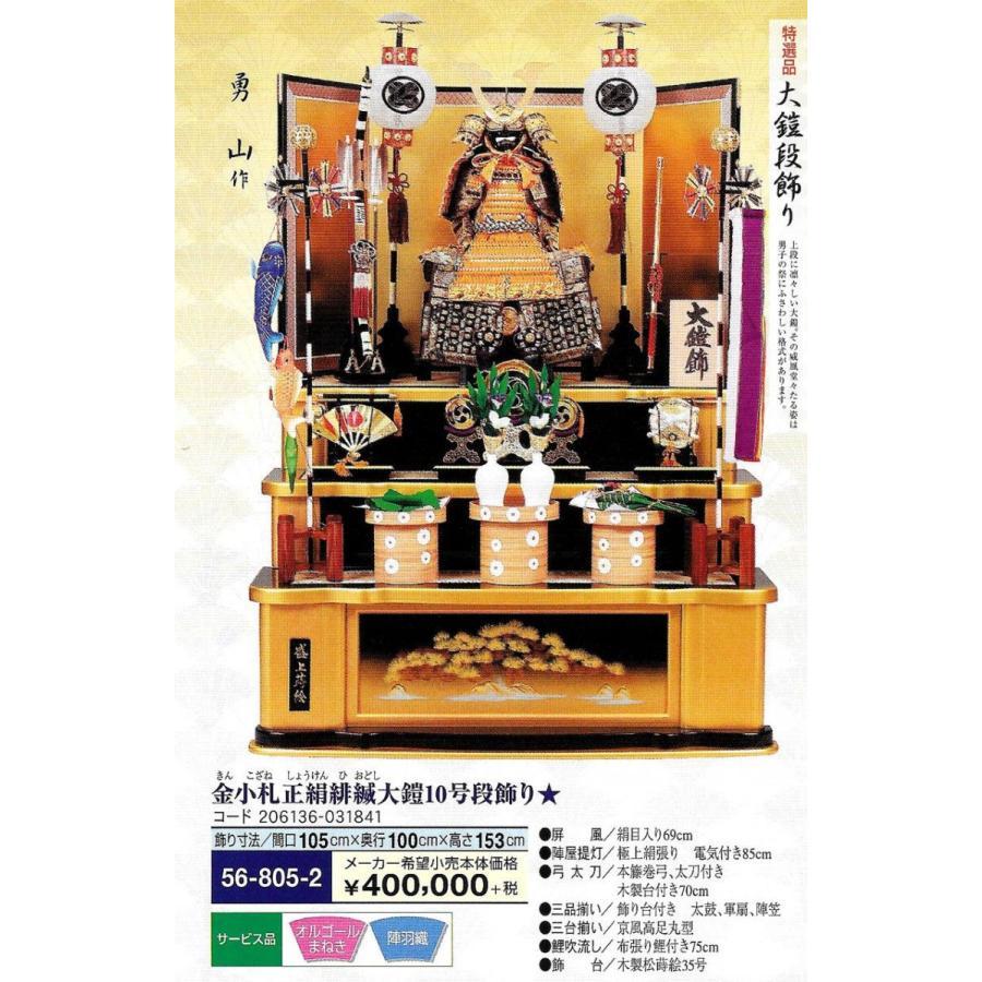 金小札正絹緋縅大鎧10号段飾り (提灯紋いれサービス)