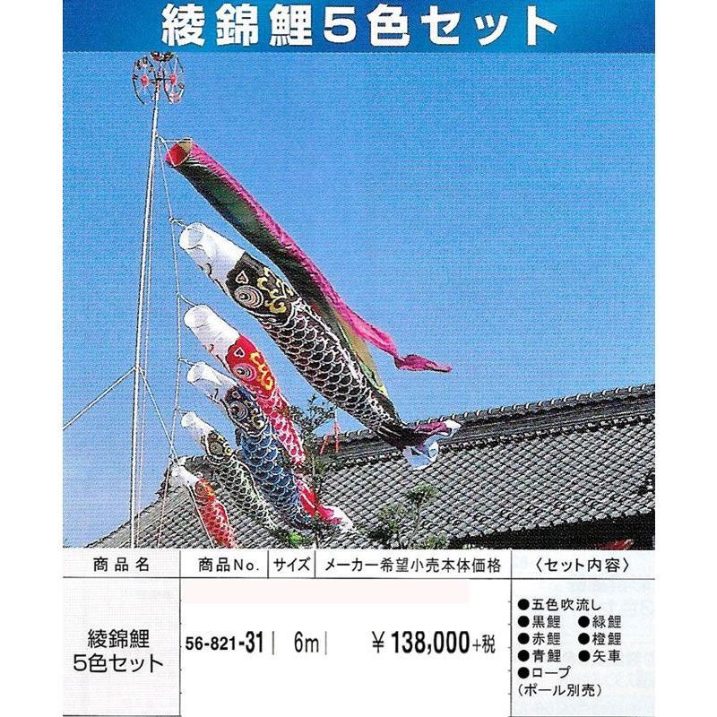 綾錦鯉5色セット サイズ6m