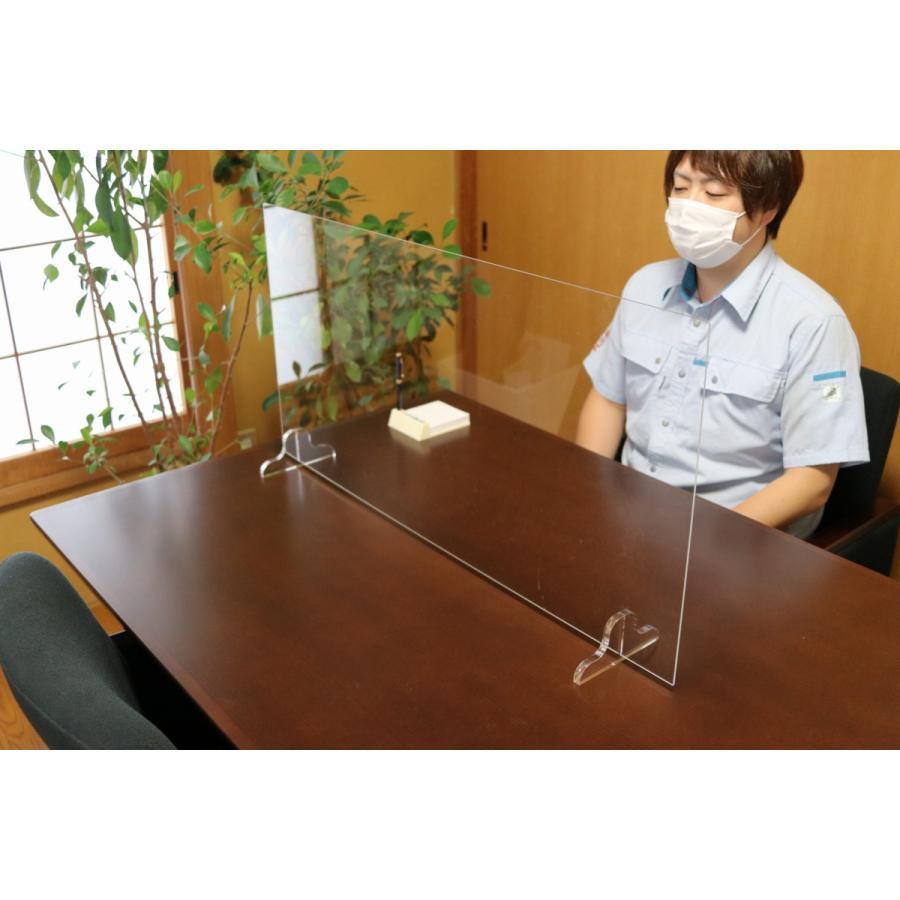 アクリルパーテーション オフィス 感染拡大予防 粉塵防止|ooosupply|03