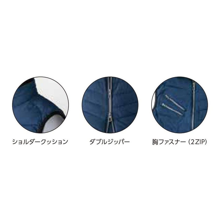 イーブンリバー RSX5005 ハードクロスベスト 2ZIP 防寒ベスト EVENRIVER RSX-5005 S〜5L (社名ネーム一か所無料) ワークウェア|oosumi-marutake|02
