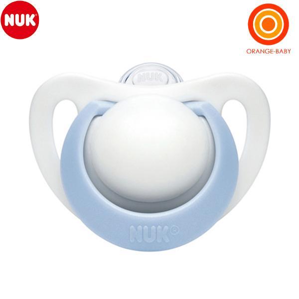 NUK 専門店 国内即発送 ヌーク おしゃぶりジーニアス 0-6カ月 消毒ケース付 ブルー