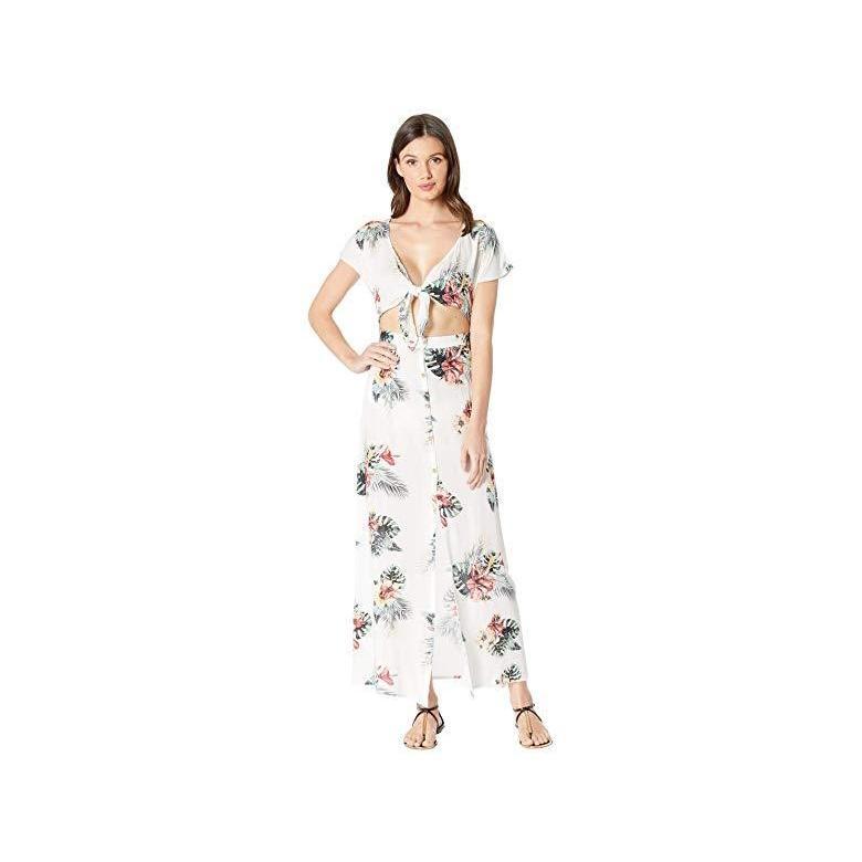 ロキシー Roxy Ubud Walk Cover-Up Swimsuit Dress レディース 水着 Bright 白い Tropical Nights Big