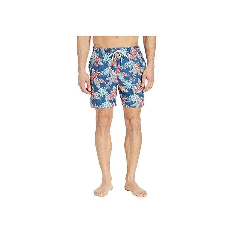 トミー バハマ Tommy Bahama Naples Faded Palms Swim Trunks メンズ 水着 海パン Dockside 青
