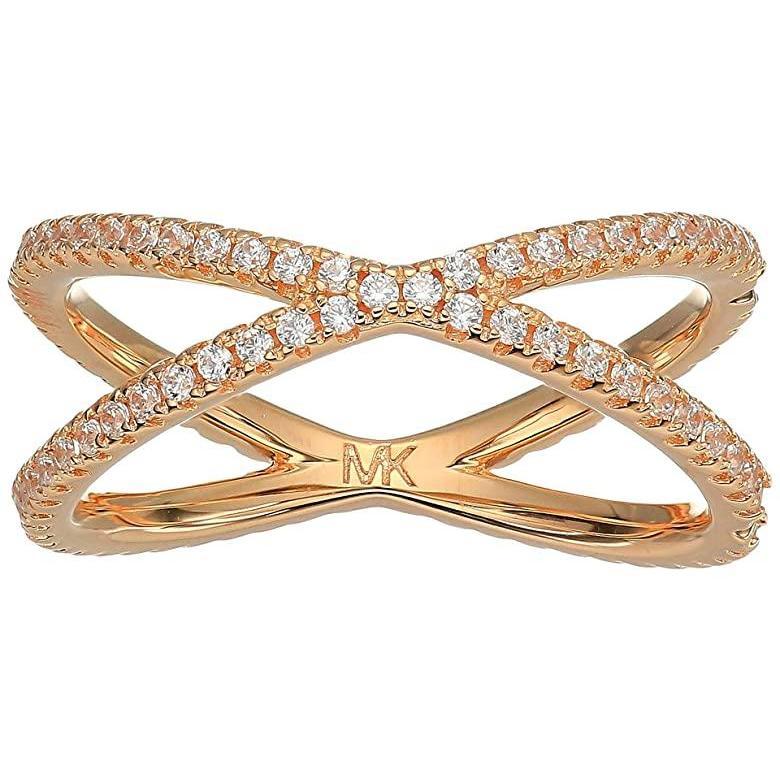 【国内発送】 マイケル コース Michael Kors Precious Metal-Plated Sterling Silver Pave Nesting Ring レディース 指輪 リング Rose Gold, 正規代理店 ヨシダ《YOSHIDA》 44a3eed5