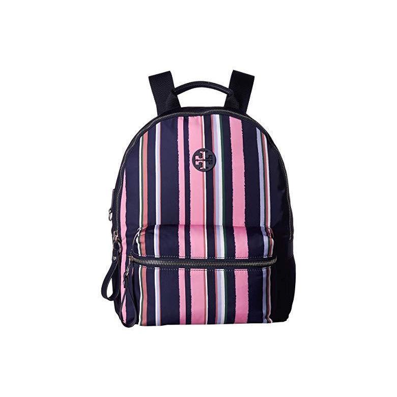 トリーバーチ Tory Burch Tilda Printed Stripe Zip Backpack レディース バックパック リュックサック Canyon Stripe Verticalu002FPerfect Navy