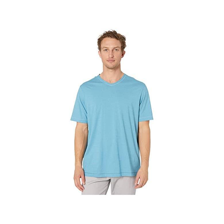 非売品 トミー Bahama バハマ Tommy Bahama Wave Tropic V-Neck メンズ トミー Tee メンズ Shirts & Tops Fountain Blue, ヤブヅカホンマチ:e6ce1045 --- chizeng.com