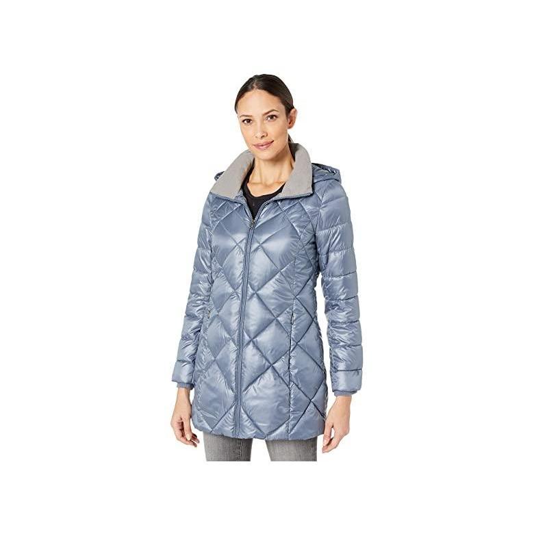 大好き アンドリューマーク Marc New York by Andrew Marc Quilted Matte Satin Puffer レディース Coats & Outerwear Storm Blue, デザイナーズ帽子MANABoo Premium 61e1ce4b