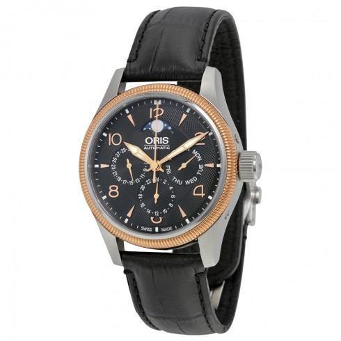 品質が Big Crown Complication Black Dial Black Leather Men's Watch, プレジャースポーツ 33749866