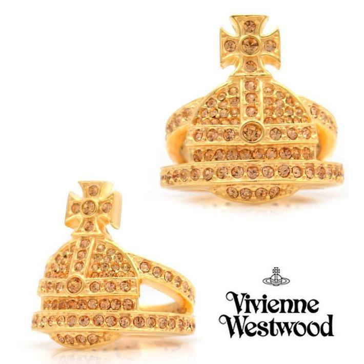 【2018?新作】 おまけ付き/ヴィヴィアンウエストウッド クリスタルオーブゴールド2連リング/指輪(Vivienne Westwood) Westwood), 正規店仕入れの:4e64a5f0 --- airmodconsu.dominiotemporario.com