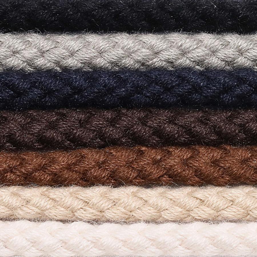 靴紐 靴ひも IPI シューレース 綿丸 丸紐 太 太さ約4mm 55cm 65cm 75cm 黒 茶 白 生成り ベージュ ネイビーブルー  ライトグレー 革靴 レザースニーカー orangeheal 04