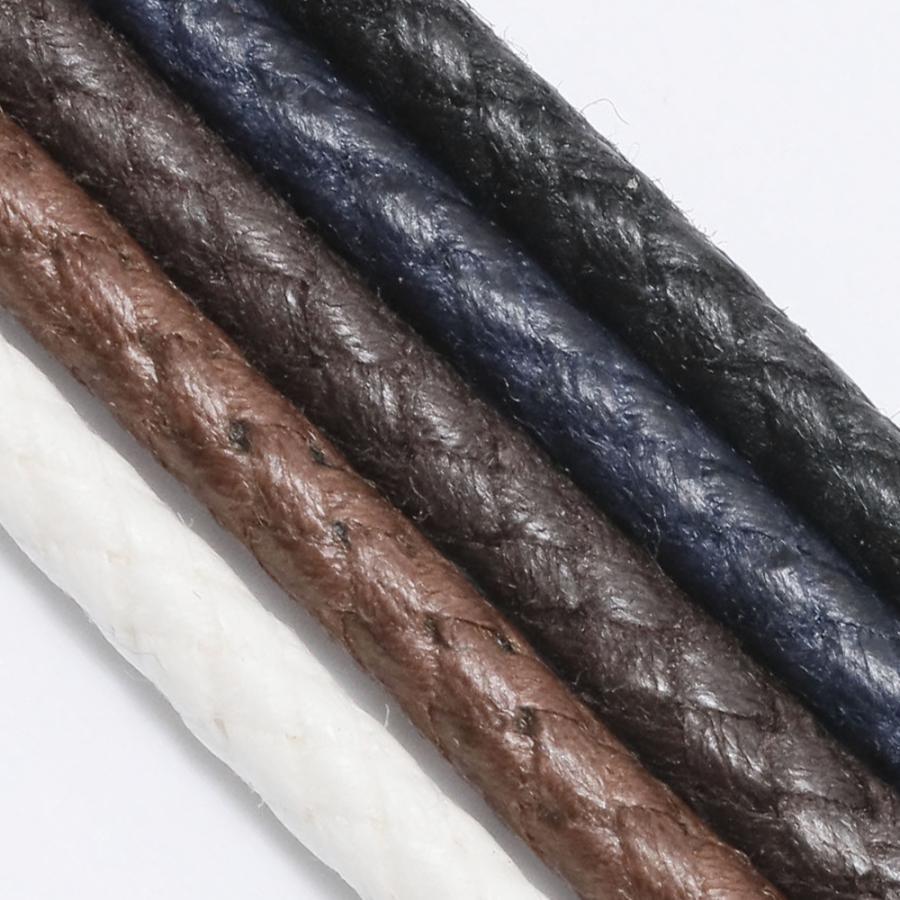 靴紐 靴ひも 丸紐 IPI シューレース  ロービキ 編丸 太 90cm 120cm 140cm 約3mm 黒 茶 白 ネイビーブルー 革靴 レザースニーカー トリッカーズ ブーツ|orangeheal|04