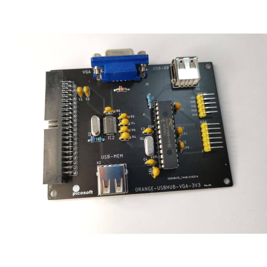 USBHUB-VGAボード(3.3V版) 組立てキット|orangepicoshop