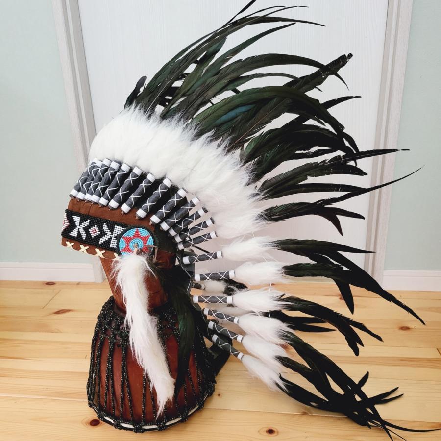 ウォーボンネット 送料込み 羽根かんむり レッド wn-39 3デザイン ネイティブ インディアン 羽根冠 羽根飾り 帽子・コスプレ