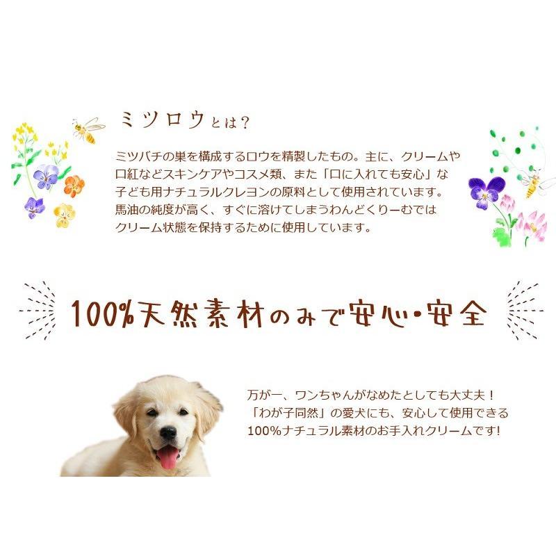 わんどくりーむ 100% 天然素材 肉球ケアクリーム 30ml WAN de CREAM キャプトスタイル CAPT.STYLE 肉球保護 犬 猫 ペット 用品 保湿 皮膚 肌 手 足 軟膏|oremeca|11