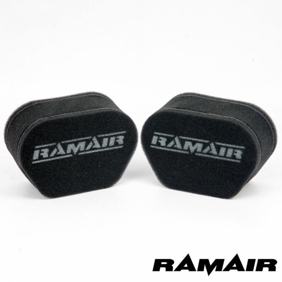 RAMAIR ラムエア 限定Special Price 2連セット エアフィルター Z400FX 保証 Z550FX 750 GPZ400 ゼファー400