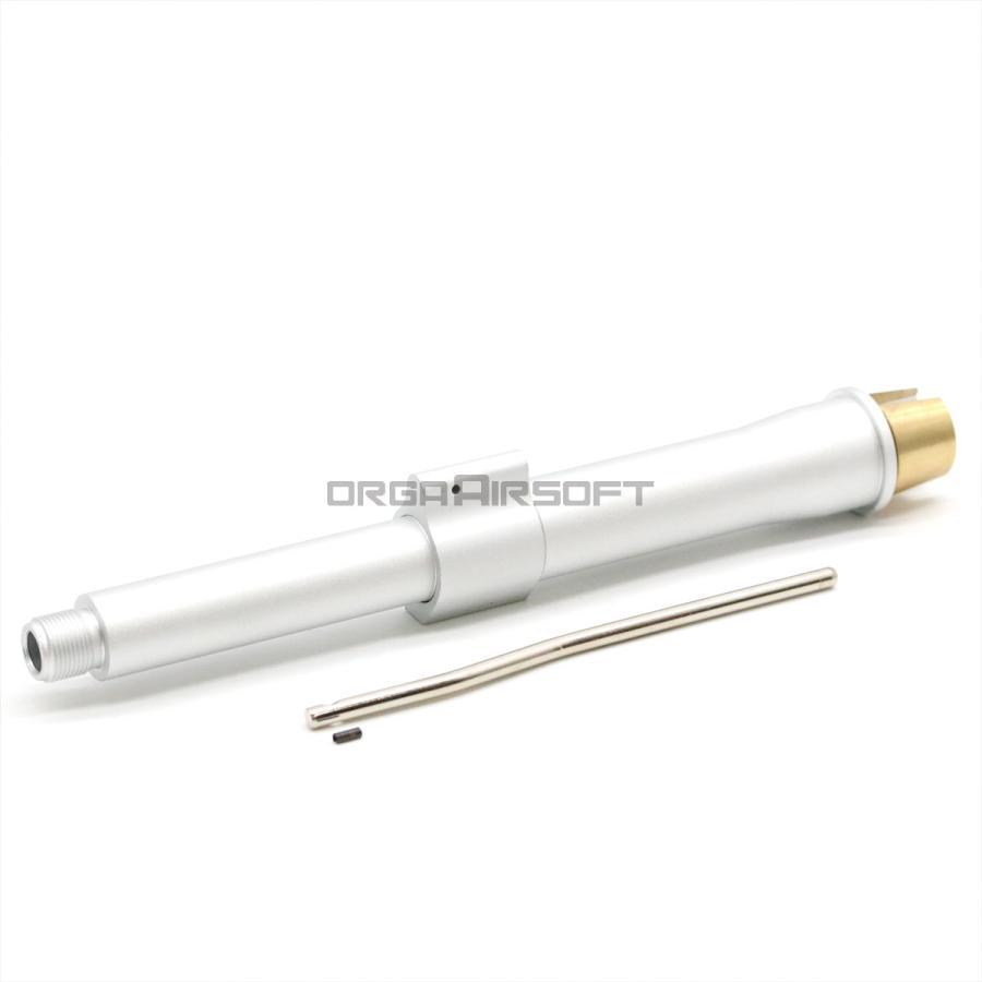 ダイタック 8.5inch SBR アウターバレル シルバー 東京マルイM4 MWS用