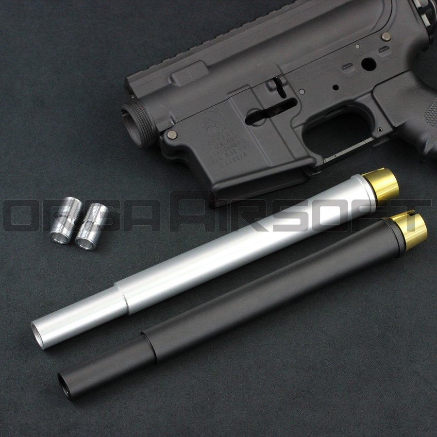 ORGA 東京マルイ M4MWS用 10.5inchアウターバレル 銀