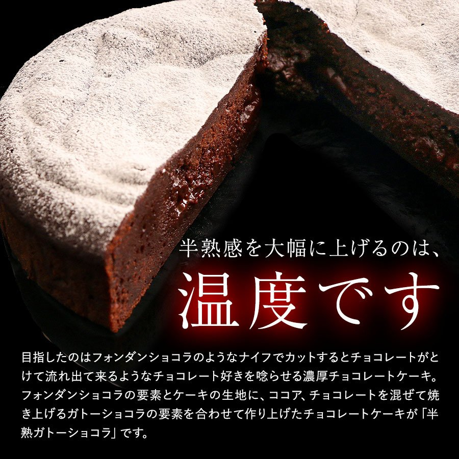 クリスマスケーキ 2020 半熟 ガトーショコラ 5号 送料無料 チョコレート Xmas ケーキ チョコ 予約 宅配 パーティー お取り寄せ ギフト プレゼント|organic|02