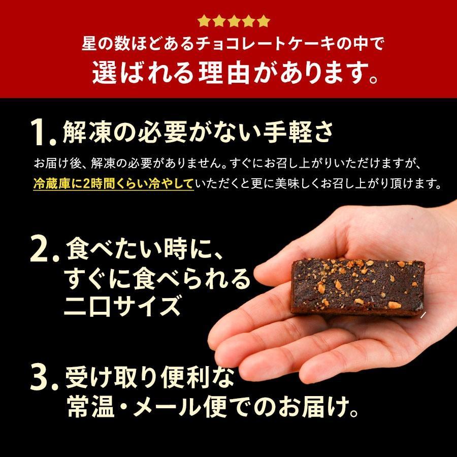 チョコレートケーキ SUPERブラウニーバー 10本入 ブラウニー チョコ  送料無料 クーベルチュール お試し ポイント消化 1000円ぽっきり セール organic 05