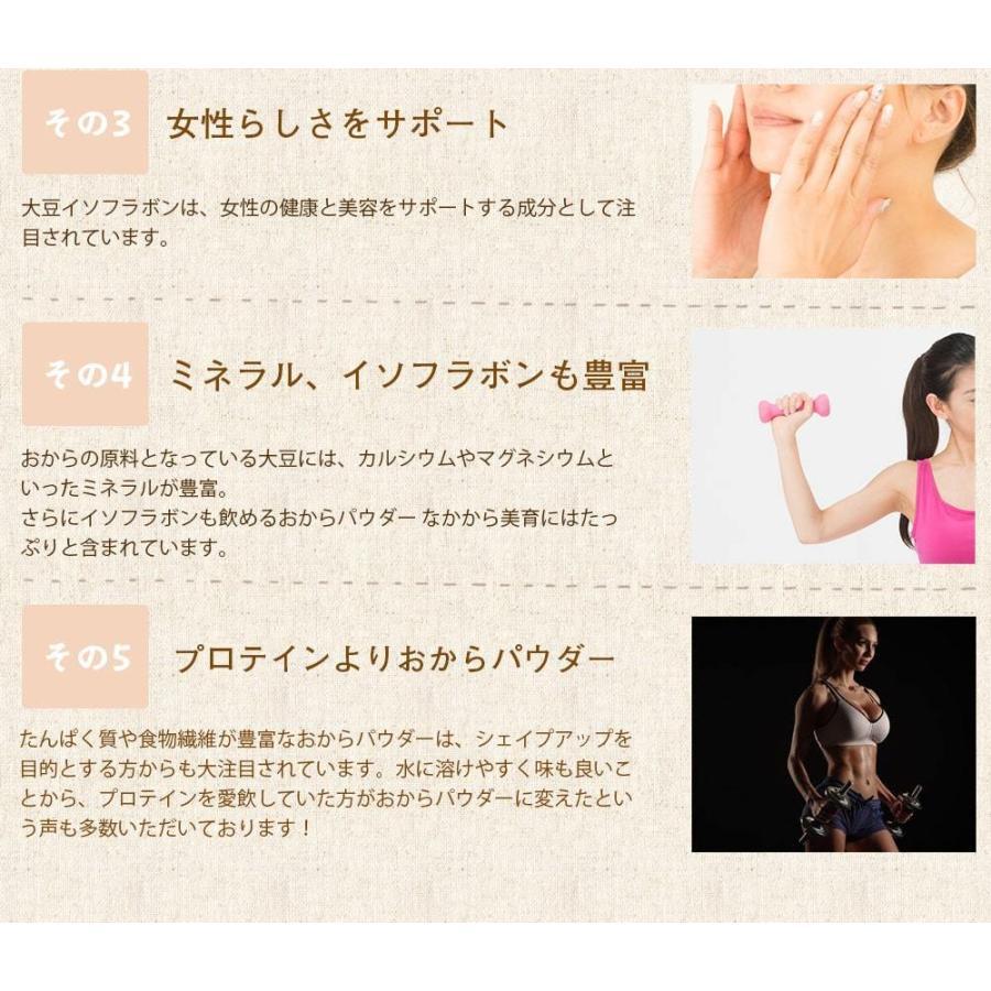 おからパウダー 飲める 超微粉 150g なかから美育 300メッシュ プロテイン ソイ 置き換え ダイエット 女性のための美容専門  送料無料|organickitchen|12