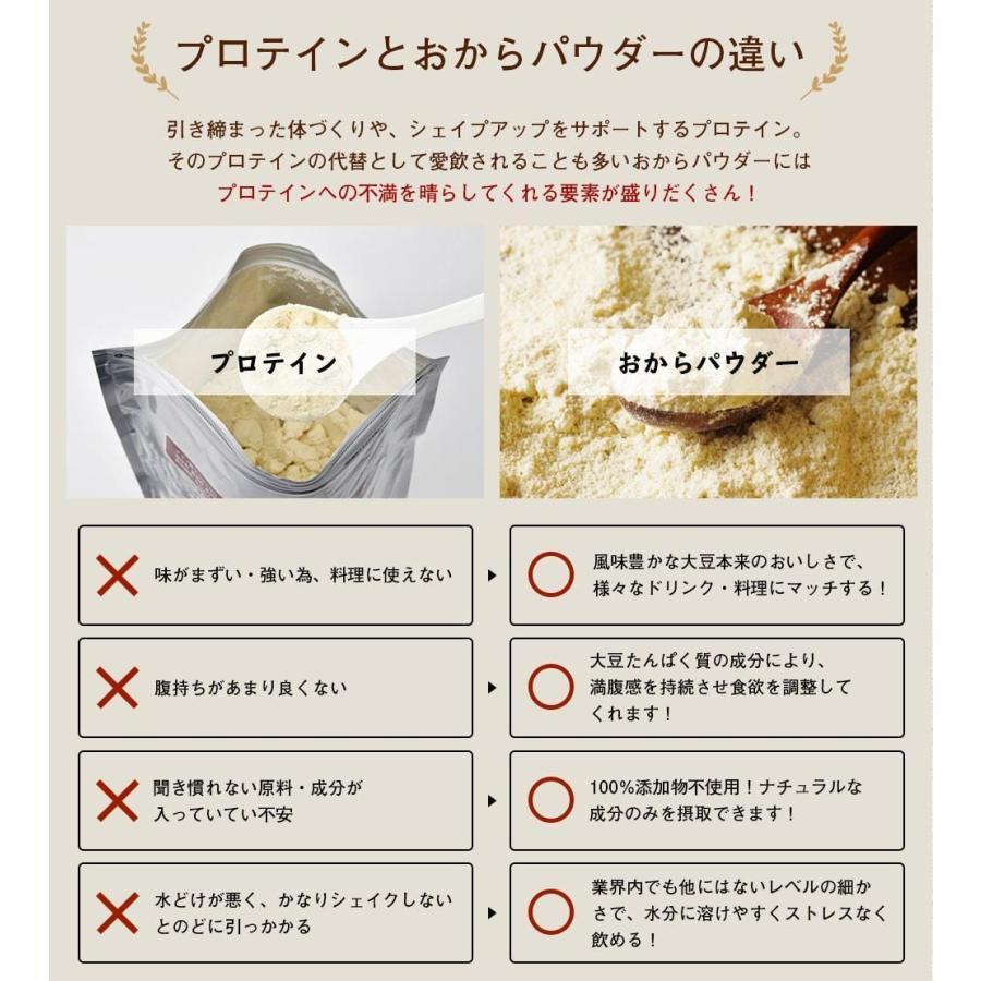 おからパウダー 飲める 超微粉 150g なかから美育 300メッシュ プロテイン ソイ 置き換え ダイエット 女性のための美容専門  送料無料|organickitchen|16