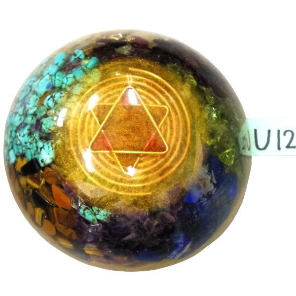 オルゴナイト プラス ドーム薄型 U12 (パワーストーン 製品)