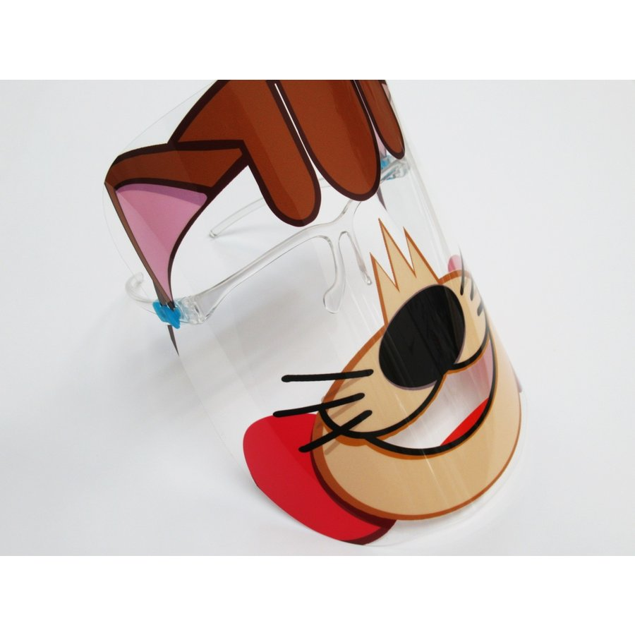 仮装 猫 フェイスシールド マスク お面 メガネ型 日本製 飛沫防止 コスプレ ハロウィン パーティー フェイスガード 感染防止 ウイルス コロナ対策|originalartpro|03