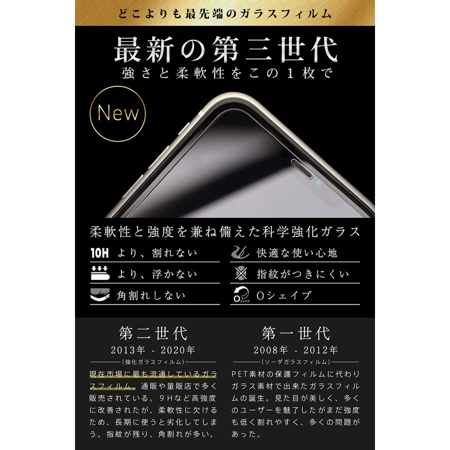 iPhone 保護フィルム ガラスフィルム iPhone13 pro Max mini SE2 (第二世代) iPhone12 11 iPhoneSE 8 7 XR XS 10Hガラスザムライ アイフォン 7Plus iPhoneSE|orion-sotre|07