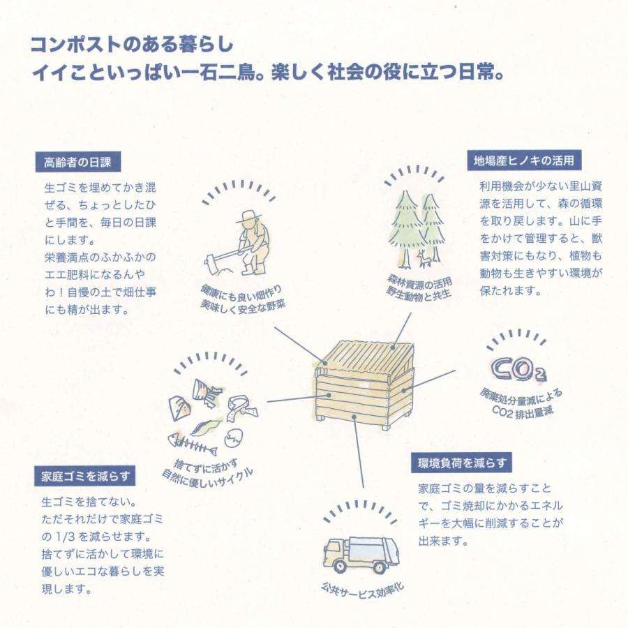 木製コンポストヒリョール(滋賀・岐阜限定/送料お客様負担) orite 04