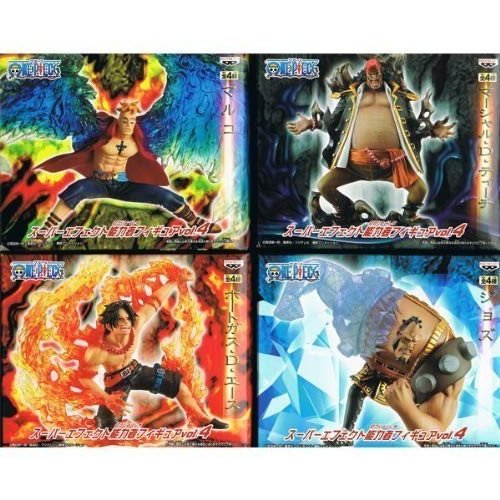 ONE PIECE ワンピース スーパーエフェクト能力者フィギュア Vol.4 ポートガス・D・エース / マルコ / ジョズ / マーシャ