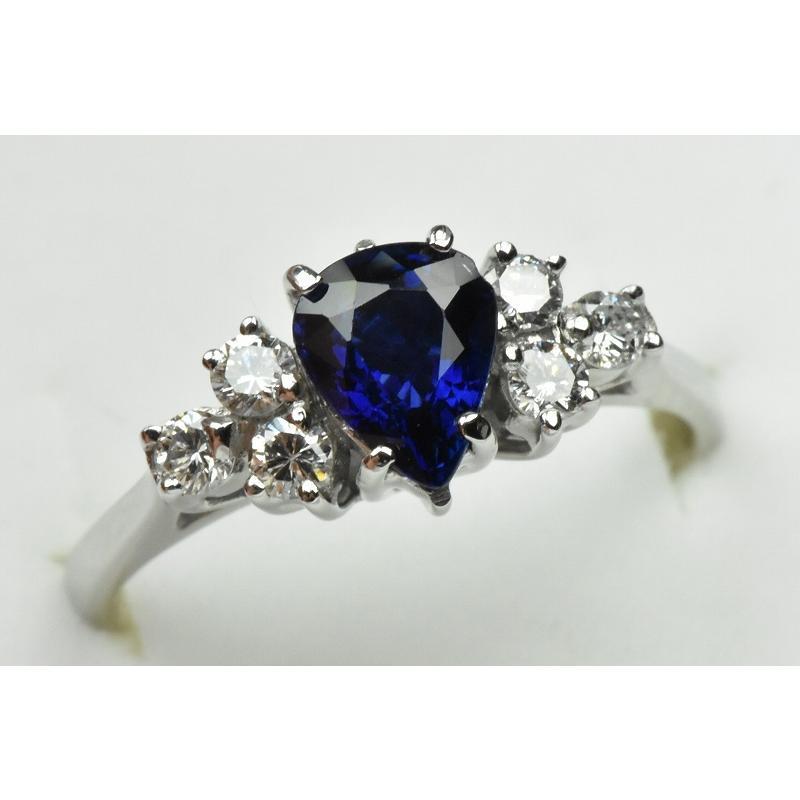 K18WG サファイア 0.85ct ダイヤモンドリング 10号 指輪|osaka-jewelry