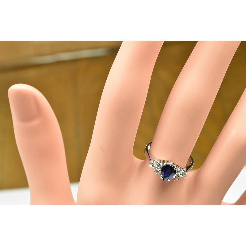 K18WG サファイア 0.85ct ダイヤモンドリング 10号 指輪|osaka-jewelry|04