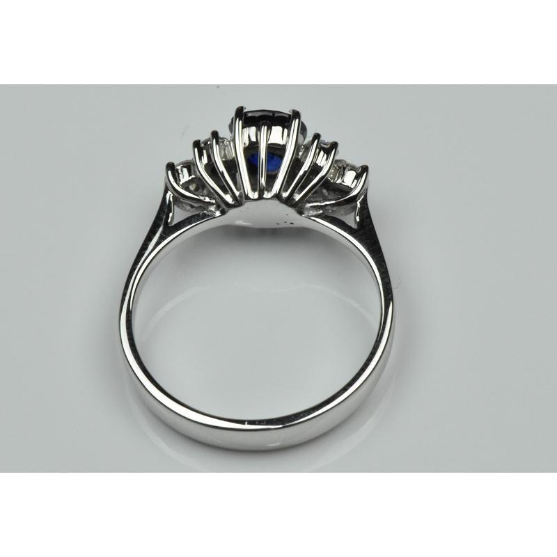 K18WG サファイア 0.85ct ダイヤモンドリング 10号 指輪|osaka-jewelry|06