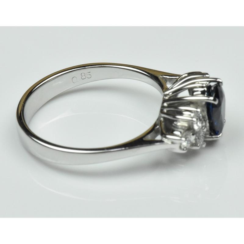 K18WG サファイア 0.85ct ダイヤモンドリング 10号 指輪|osaka-jewelry|08