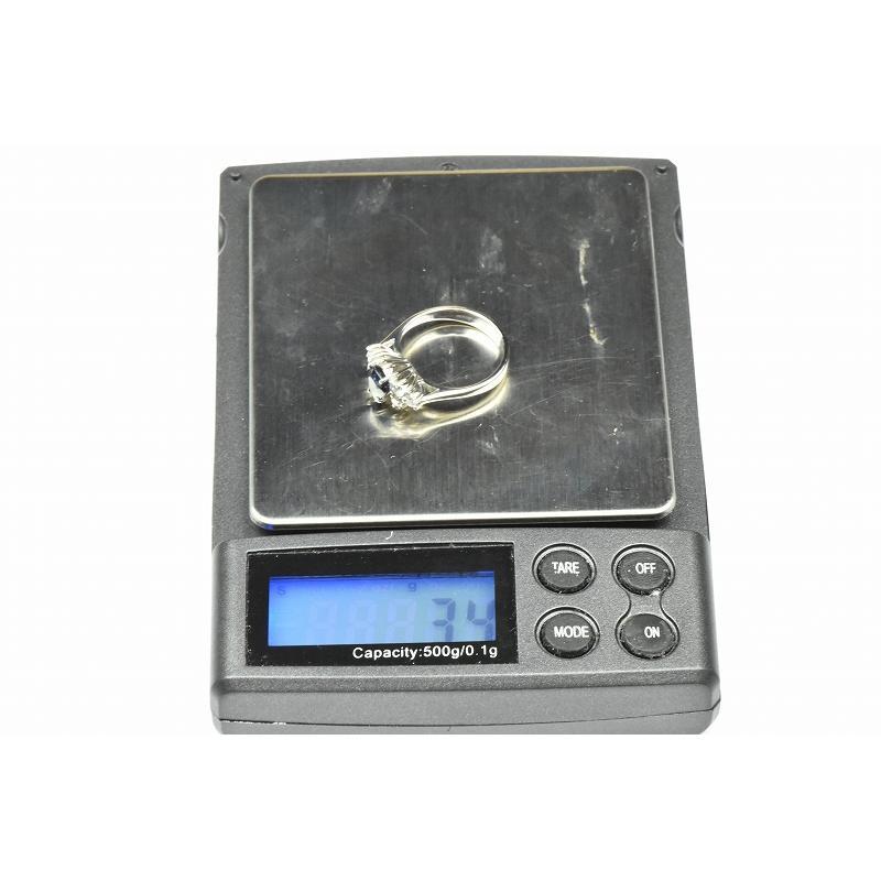 K18WG サファイア 0.85ct ダイヤモンドリング 10号 指輪|osaka-jewelry|09