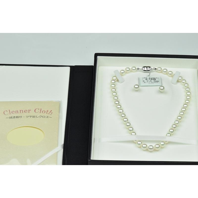 新品【花珠真珠】8.5mm-9.0mm パールネックレス 鑑別|osaka-jewelry